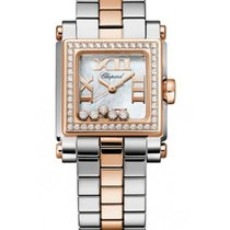 Chopard 278516-6004 Happy Sport II Square Small - Steel-Rose...