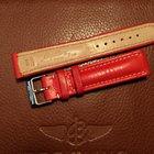 Breitling bracelet boucle ardillon veau rouge