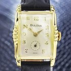 Bulova L4 Gold Plated Manual Luxury Dress Watch Scx26
