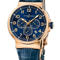 Ulysse Nardin Marine Chronograph Manufacture Rose Gold
