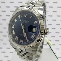 Rolex Oyster Perpetual Datejust BLUE DIAL, ROMAN NUMERALS - ...