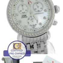 Michele CSX-36 Day Diamond Chronograph MW03M01A1046 Stainless MOP