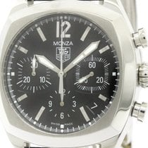 TAG Heuer Polished Tag Heuer Monza Chronograph Steel Automatic...
