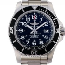 Breitling Superocean II Stahl Automatik Chronometer Armband...