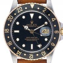 勞力士 (Rolex) GMT Master Stahl Gelbgold Automatik Armband Leder...