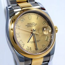 Rolex Datejust 116203 Two Tone 18k Yellow Gold & Ss...