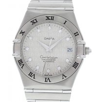 Omega Constellation 50th Anniversary Diamond Dial Stainless...