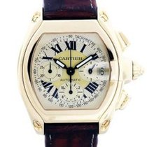 Cartier Roadster  Gold Chronograph W62021Y3 Mens Watch