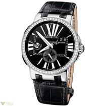 Ulysse Nardin Executive Dual Time Black Diamonds Bezel...