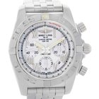 Breitling Chronomat 01 White Dial Steel Mens Watch Ab0110 Unworn