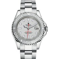Rolex YACHT-MASTER 35mm Steel & Platinum Watch 2016