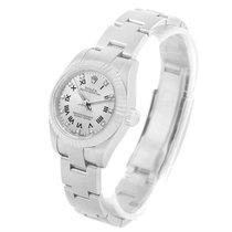 Rolex Steel 18k White Gold Diamond Roman Dial Ladies Watch 176234