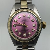 Rolex OYSTER LADY STEEL GOLD 26MM AUTOMATIC PINK DIAMONDS DIAL