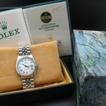 Rolex DATEJUST 1601 SS ORIGINAL White Buckley Dial with Paper