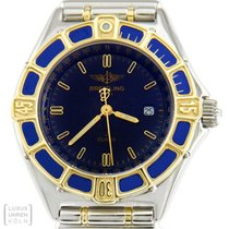 Breitling Uhr Lady J Edelstahl / Gold Relauxband Quarz Damen...