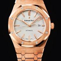 Audemars Piguet Royal Oak 18K pink gold case Grey dial