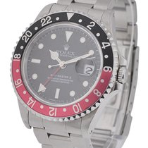Rolex Used 16710 Stainless Steel GMT - Master II 16710 - Black...