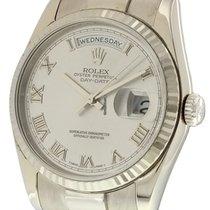 Rolex Day-Date President 18k White Gold 36mm Circa 2000 Ref....