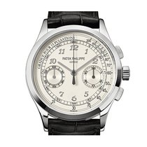 Patek Philippe [New] Complications Chronograph Silvery White...