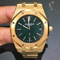 Audemars Piguet Extra-thin yellow gold Green dial - Limited...