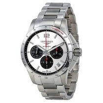 Longines Conquest Chronograph Silver Dial Stainless Steel...
