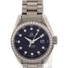 Omega Ladies Omega Seamaster Aqua Terra SS & Diamonds...
