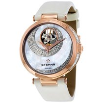 Eterna Grace Open Art Mother of Pearl Diamond Dial Ladies Watch