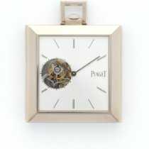 Piaget White Gold Altiplano Square Tourbillon Pocket Watch