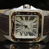 カルティエ (Cartier) 2006 Santos 100, Steel & Rose Gold, Mint,...