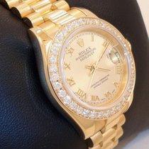 Rolex Ladies President 18k Yellow Gold 1.35ct Diamond Bezel...