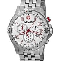 Wenger Mens Squadron Chronograph - White Dial - Stainless...