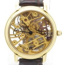 Maurice Lacroix Masterpiece Mp7048 Manual Wind Solid 18k Gold...