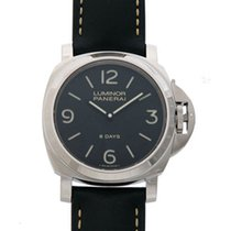 Panerai Luminor Base 8 Days Acciaio NEU mit Box und P
