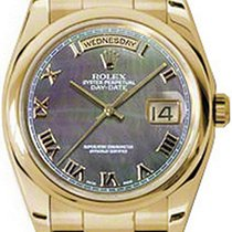 Rolex Day-Date 36 118208-DMOPRDO Dark Mother of Pearl Roman...