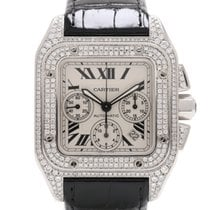 Cartier Santos 100 XL Chronograph After Set Diamonds