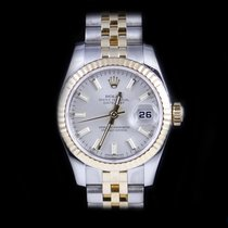 Rolex DateJust 18K & Stainless and White Dial