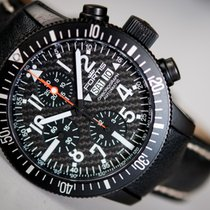 Fortis B-42 Black Chronograph Titan/Carbon