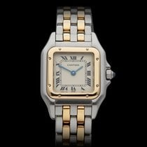 Cartier Panthere Two row Stainless Steel/18k Yellow Gold...