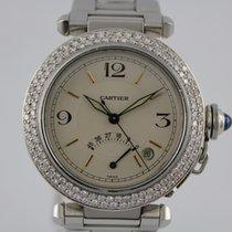 Cartier Pascha Power Reserve #K2840 Diamant Lünette, Box, Papiere