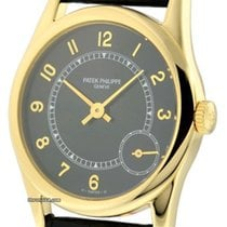 Patek Philippe Calatrava 18k Yellow Gold Black Dial