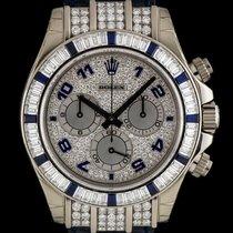 Rolex 18k W/G Diamond & Sapphire Cosmo Daytona NOS B&P...