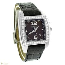 Chopard Two O Ten Diamond Stainless Steel Leather ladies Watch