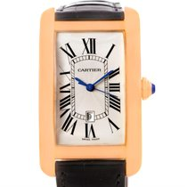 Cartier Tank Americaine Large 18k Rose Gold Watch W2609156