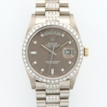 Rolex White Gold Full Diamond Day-Date Ref. 18049