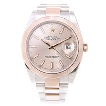 Rolex Datejust 18k Rose Gold And Steel Pink Automatic 126301PK_O
