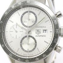 TAG Heuer Polished Tag Heuer Carrera Chronograph Steel...