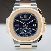 Patek Philippe 5980/1AR-001 Nautilus Chronograph Blue Dial 18K...