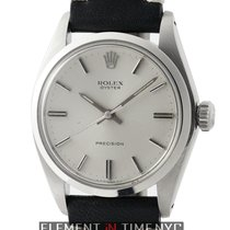 Rolex Oyster Vintage Precision Stainless Steel 34mm Silver...