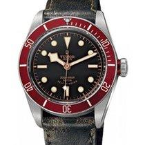 Tudor Heritage Black Bay 79220R Black Index Stainless Steel...