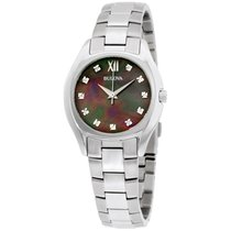 Bulova Diamond Collection Mop Dial Stainless Steel Ladies...